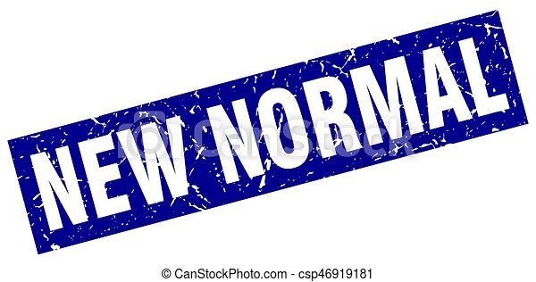 Square Grunge Blue New Normal Stamp
