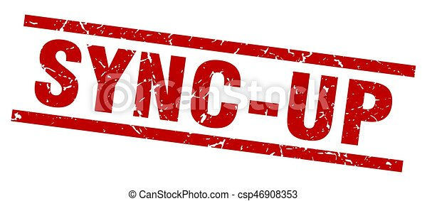 square grunge red sync-up stamp - csp46908353