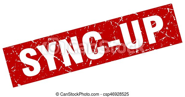 square grunge red sync-up stamp - csp46928525