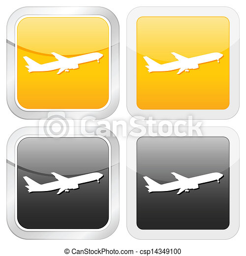 square icon aeroplane - csp14349100