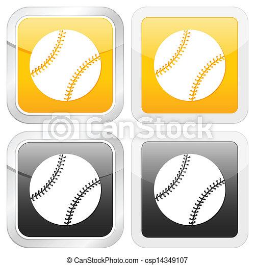 square icon baseball - csp14349107