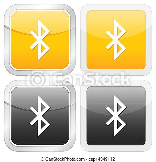 square icon bluetooth - csp14349112