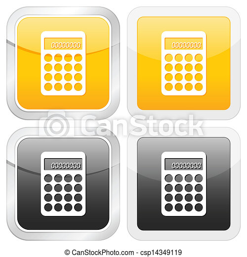 square icon calculator - csp14349119