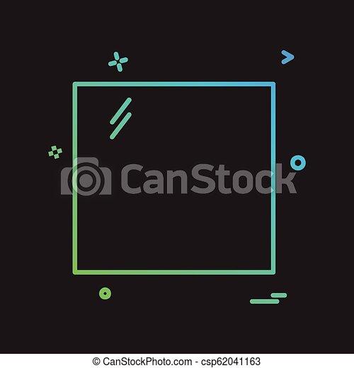 Square icon design vector - csp62041163