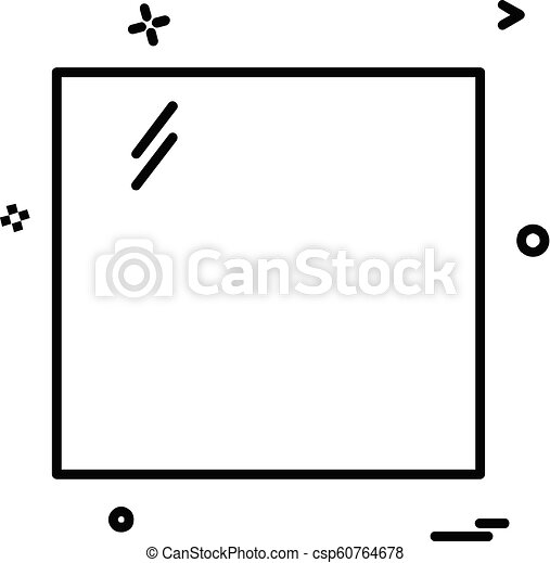 Square icon design vector - csp60764678