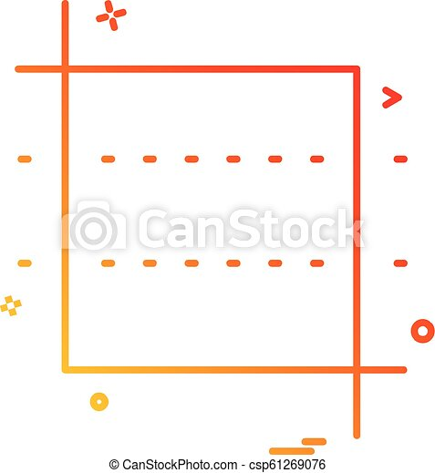 Square icon design vector - csp61269076