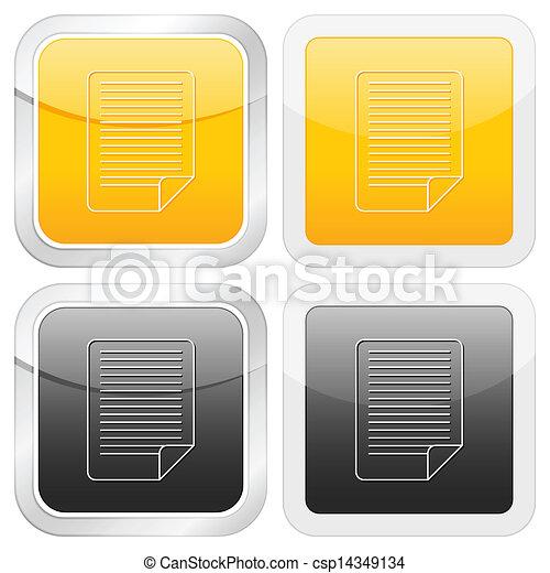 square icon document - csp14349134