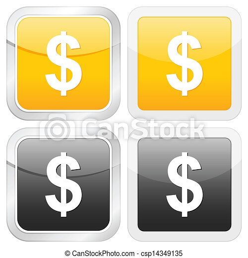 square icon dollar - csp14349135