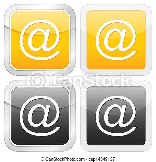 square icon email - csp14349137