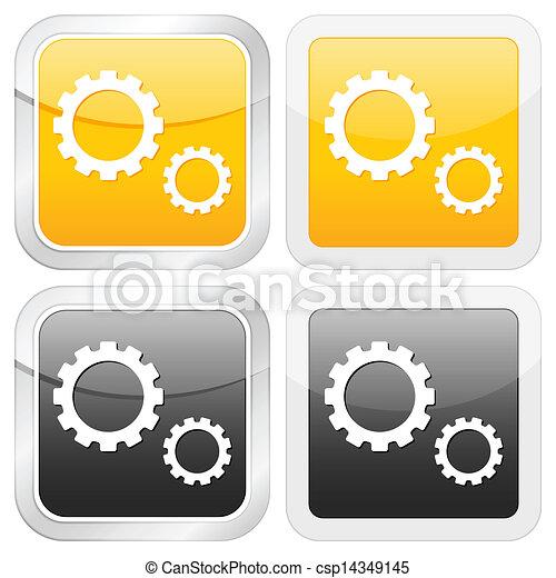 square icon gear - csp14349145