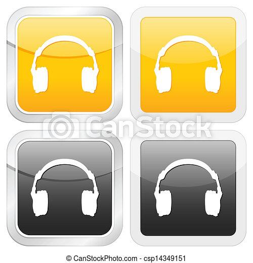 square icon headphone - csp14349151