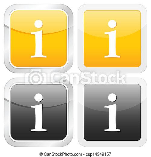 square icon info - csp14349157