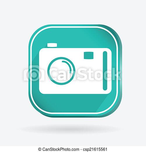 square icon, photo camera - csp21615561