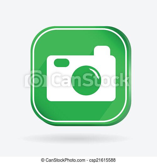 square icon, photo camera - csp21615588