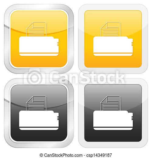 square icon printer - csp14349187