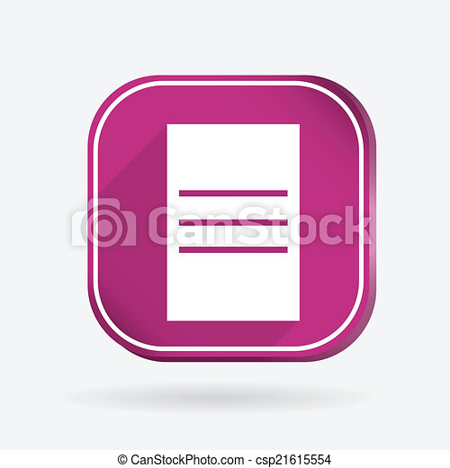 square icon, sheet of paper - csp21615554