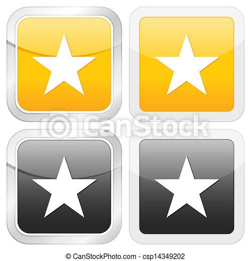 square icon star - csp14349202