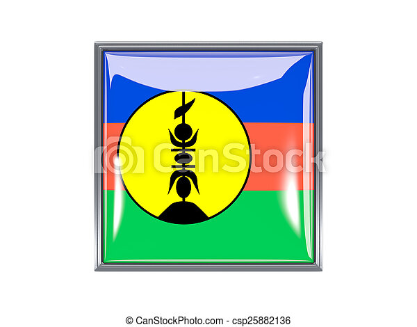 Square icon with flag of new caledonia - csp25882136