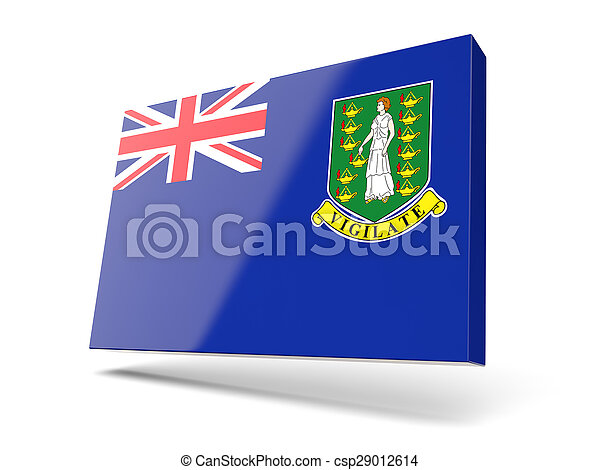 Square icon with flag of virgin islands british - csp29012614