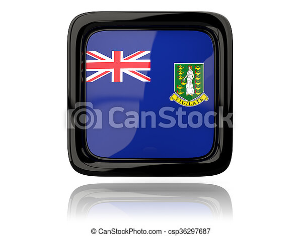 Square icon with flag of virgin islands british - csp36297687