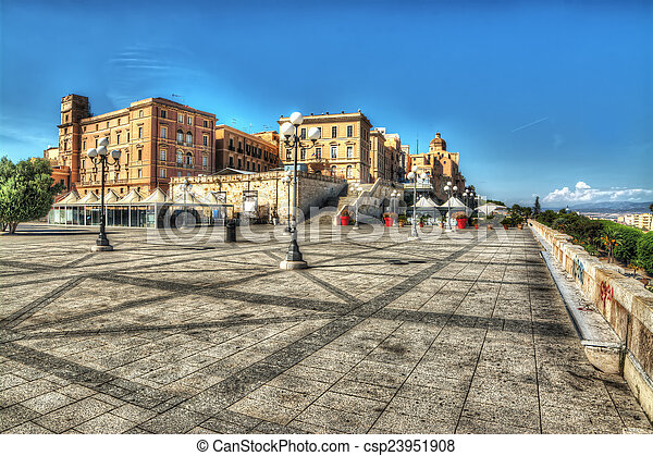 square in Saint Remy Bastion - csp23951908
