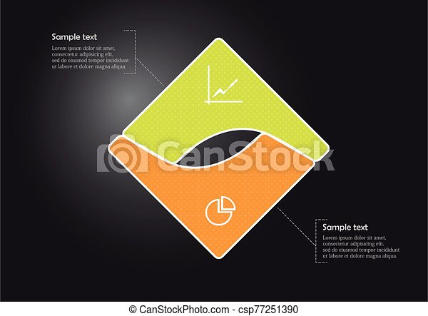 Square infographic vector template consists of two parts - csp77251390