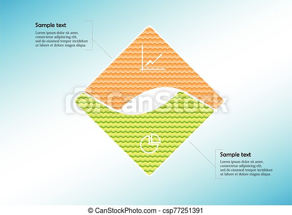 Square infographic vector template consists of two parts - csp77251391
