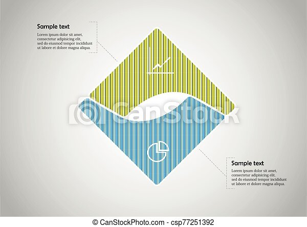 Square infographic vector template consists of two parts - csp77251392