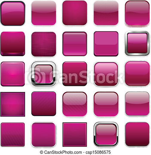 Square magenta app icons. - csp15086575