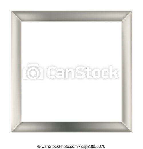 Square metal frame . Simple square silver metal frame isolated on ...