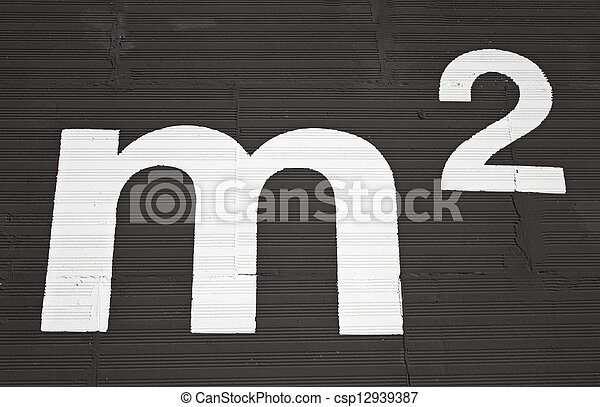 Square meters as painted on the wall, mathematical symbol pictures ...