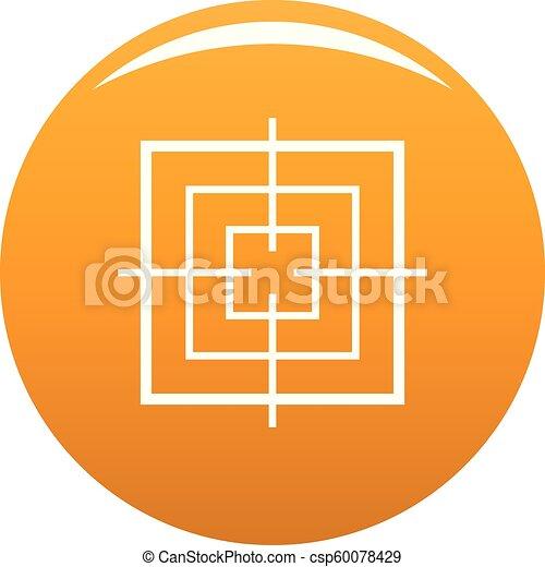 Square objective icon vector orange - csp60078429