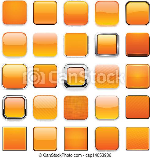 Square orange app icons. - csp14053936