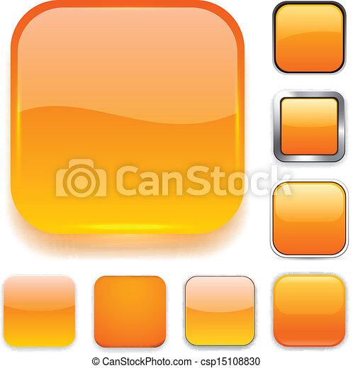 Square orange app icons. - csp15108830
