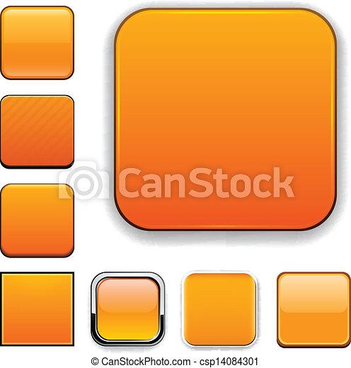 Square orange app icons. - csp14084301