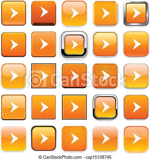 Square orange arrow icons. - csp15108745