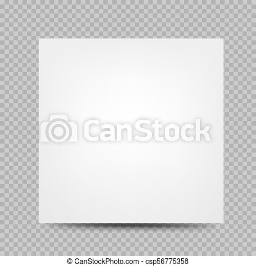 Square Paper Banner Cover Transparent