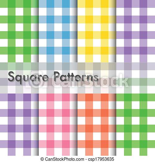 Square patterns illustration - csp17953635