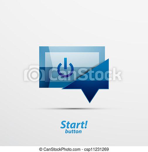Square power button design - csp11231269