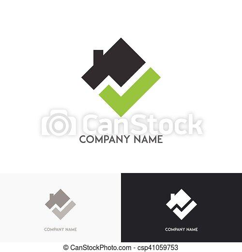 Square real estate logo - csp41059753