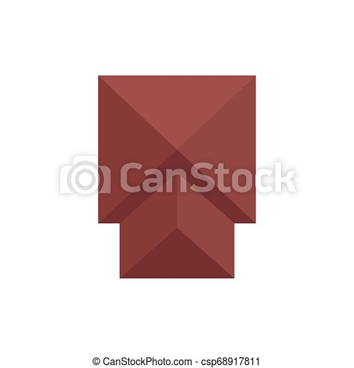 Square roof. View from above. Vector illustration. - csp68917811