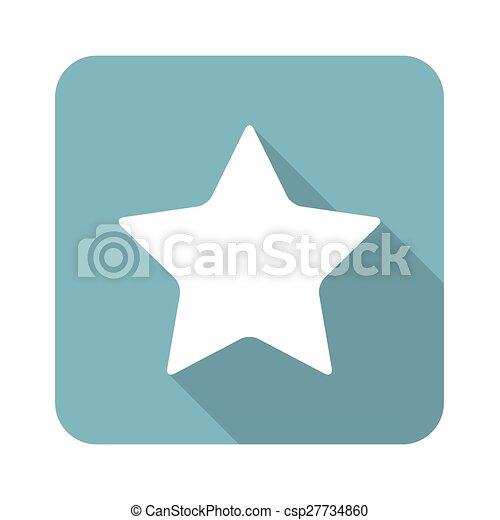 Square star icon - csp27734860