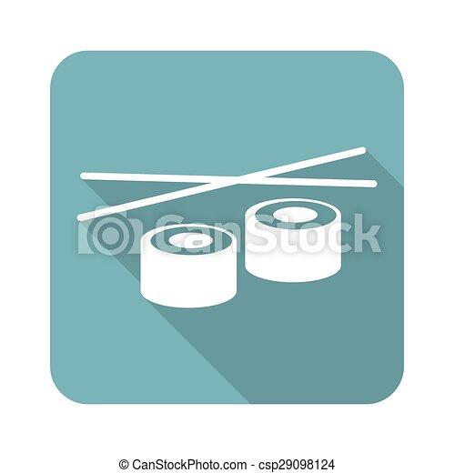 Square sushi icon - csp29098124