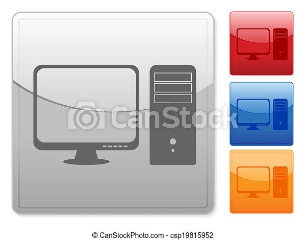 square web buttons computer - csp19815952