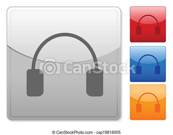 square web buttons headphone - csp19816005