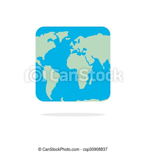 Square world map atlas of unusual shape square earth vectors square world map atlas of unusual shape square earth earth in parallel universe gumiabroncs Image collections