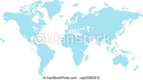 Squares world map illustration of world map made up of vector squares world map csp23363912 gumiabroncs Choice Image