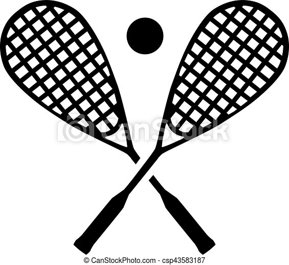 squash rackets with ball vector search clip art illustration rh canstockphoto com