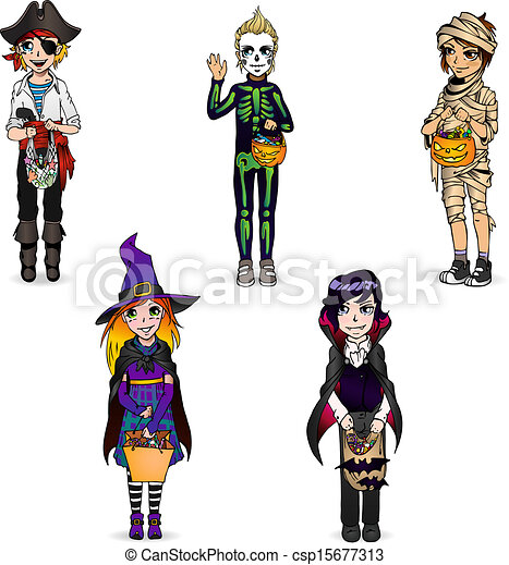 squelette halloween momie vampire sorcire dguisement pirate csp15677313 - Squelette Halloween