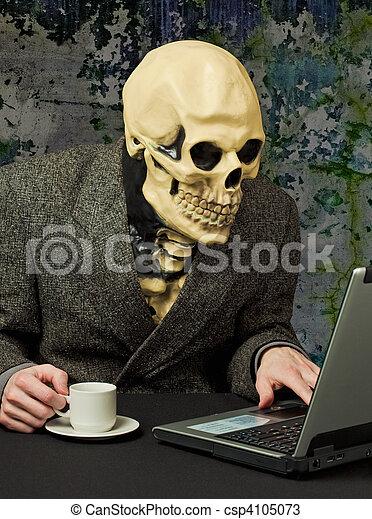 squelette, -, terrible, personne, usages, internet - csp4105073